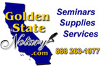 Golden State Notary - Seminars, Supplies and Services