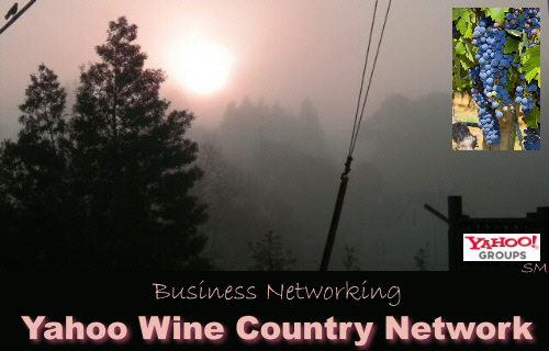 Welcome to the Wine County Network! Promote yourself, your business, service or product here. We also share effective tools to promote our businesses and find and refer qualified offline and online leads. Sonoma County, Napa County, Marin County, Solano County, northern California. If you provide a business product or service nation or worldwide the also free Google N Advertising Group may help you in your marketing and advertising efforts at http://GNAG.homestead.com
